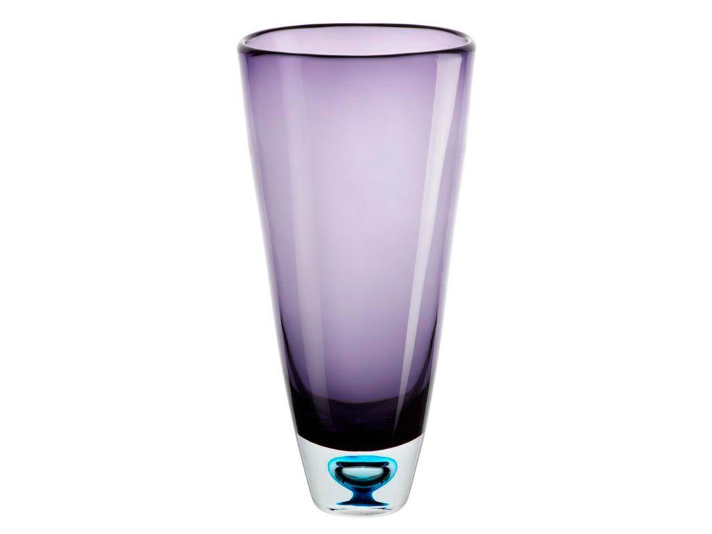 Vase Blumenvase Calla Violett H 33cm Glas Amara Design