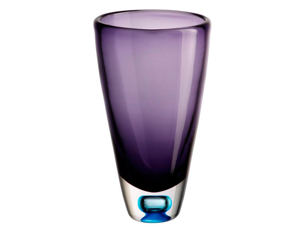 Vase Blumenvase Calla Violett H 23cm Glas Amara Design