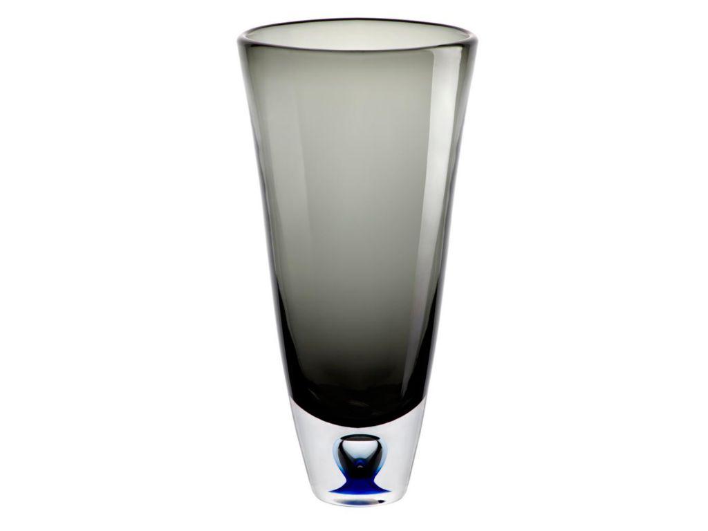 Vase Blumenvase Calla Grau H 33 Cm Glas Amara Design