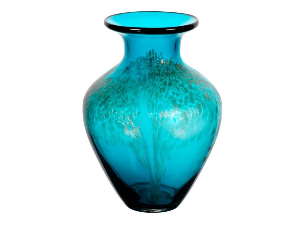 Vase Blumenvase Orient Blau H 27 5cm Glas Amara Design