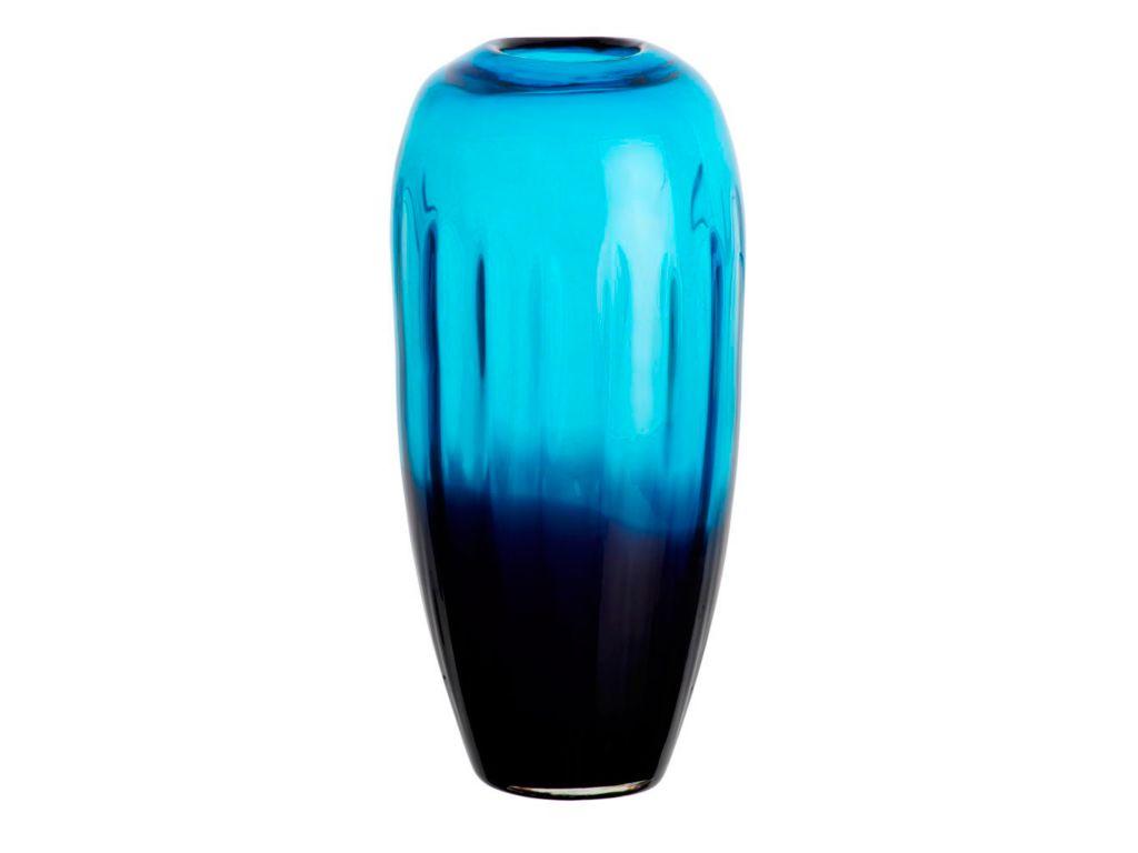 Vase Blumenvase Laguna Blau H 30 Cm Glas Amara Design