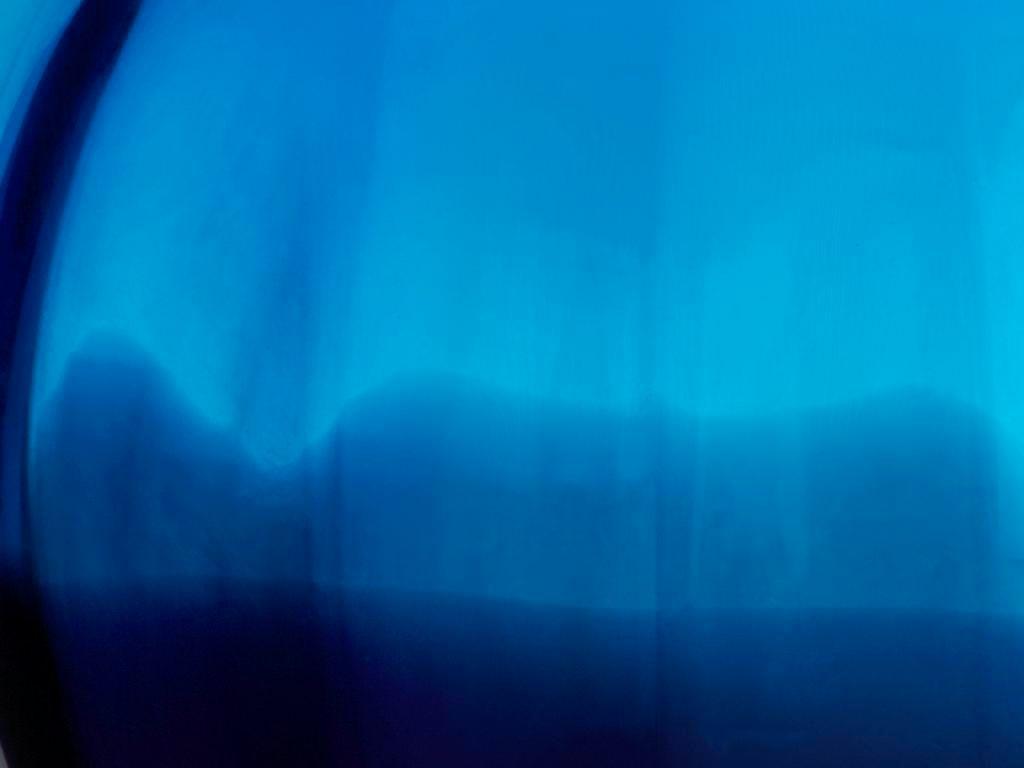 Vase Blumenvase Laguna Blau H 16 Cm Glas Amara Design